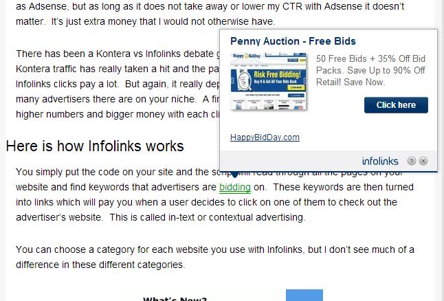 Infolinks Example
