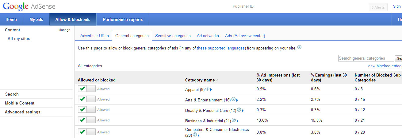 Target Specific Types of Ads