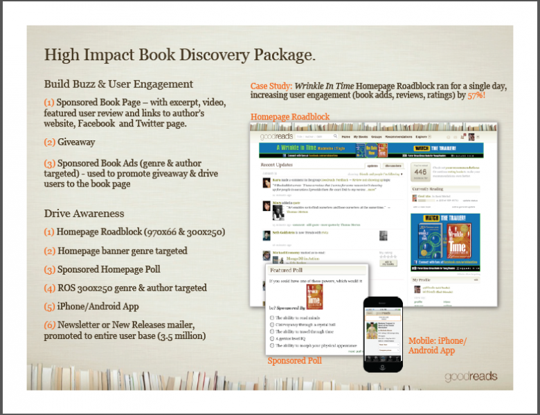 Seven examples of media kits that make it rain example 2 goodreads this media kit maxwellsz