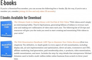 Free Web Monetization E-books