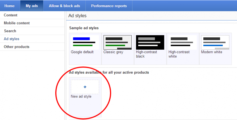 AdSense Ad Styling