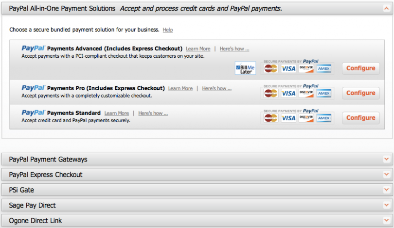 Magento Go payment gateways