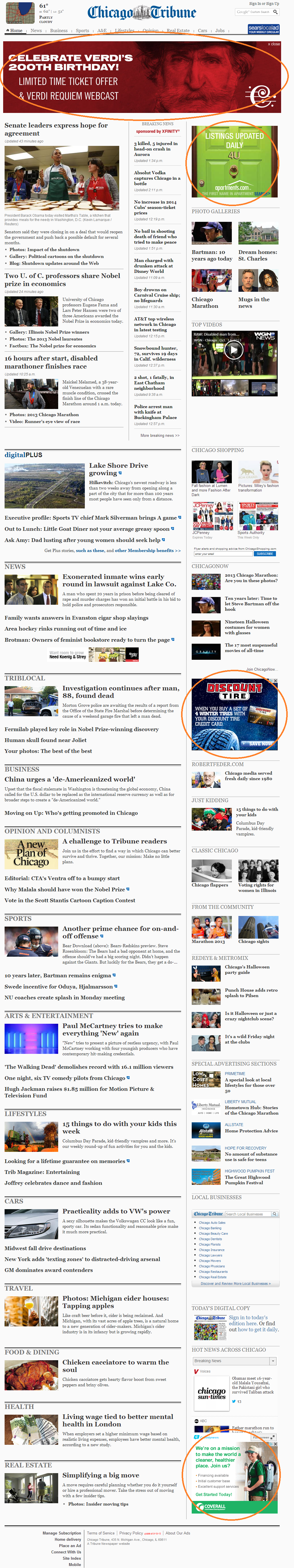 Standard Ad Units on Chicago Tribune