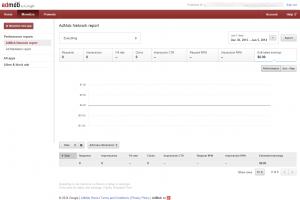 AdMob publisher control panel