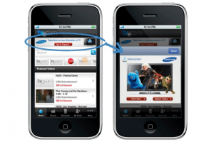 Example of AdMob ad unit on iPhone