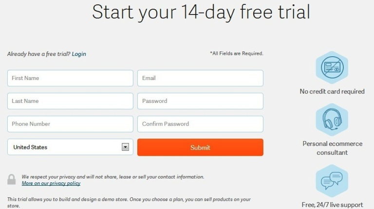 Volusion 14-day free trial