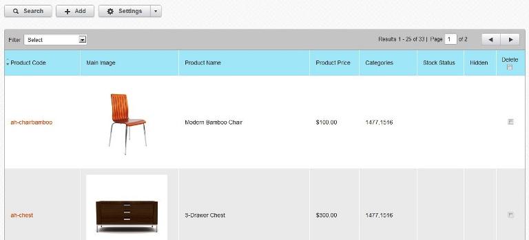 Volusion product setup