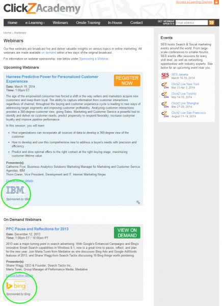 Sponsored Webinars