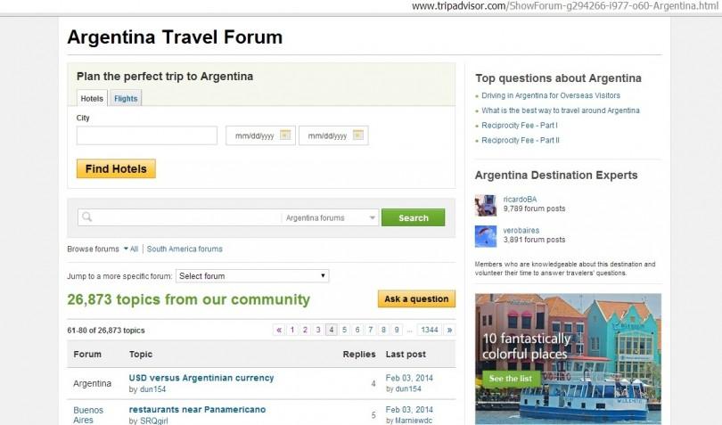 TripAdvisor.com Forum