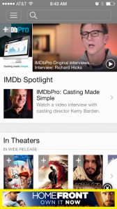 Ad within IMDb iOS App