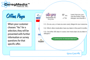 Example of CoregMedia offers, from their demo