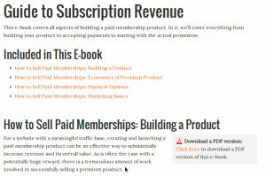 Guide to Subscription Revenue