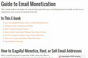 Guide to Email Monetization
