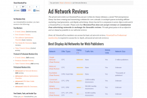 Ad Network Reviews