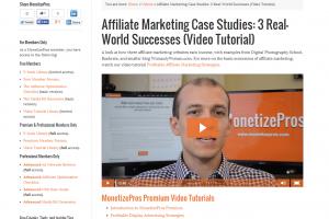 MonetizePros Premium video tutorials
