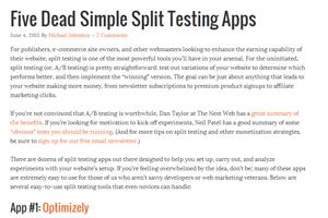 Five Dead Simple Split Testing Apps