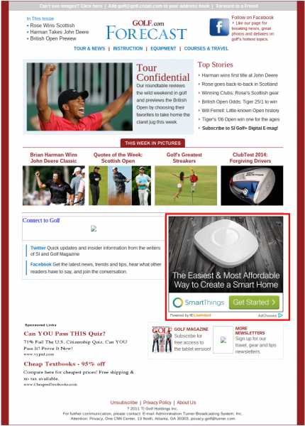 Example of LiveIntent Email Ad