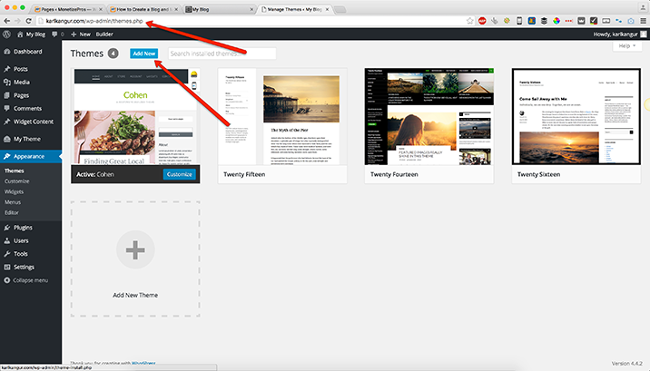 Add-new-theme-Wordpress