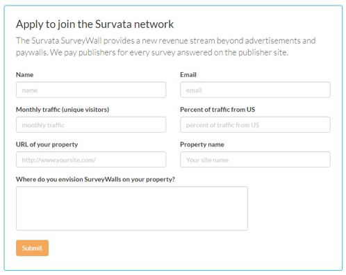 Apply for Survata