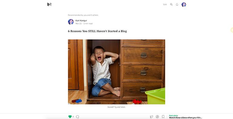 A Medium.com blog