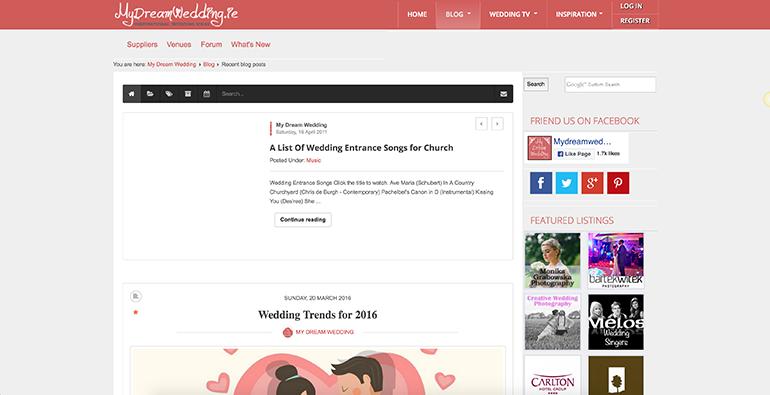 Example Joomla blog