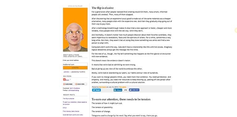 Typepad blog example