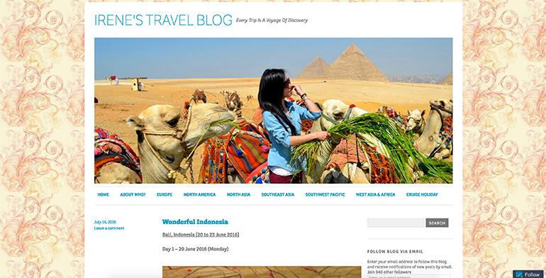 Typical WordPress.com blog