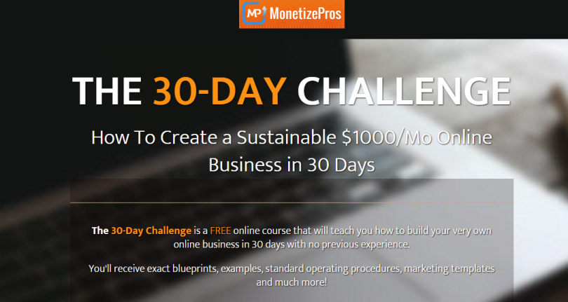 Ways to make money at home online. 30-Day Challenge