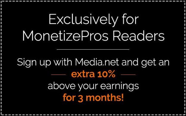 Monetizepros - 4 ways to increase your Media Net earnings