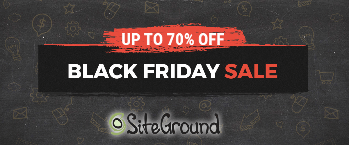 Siteground Black Friday Mega Sale!