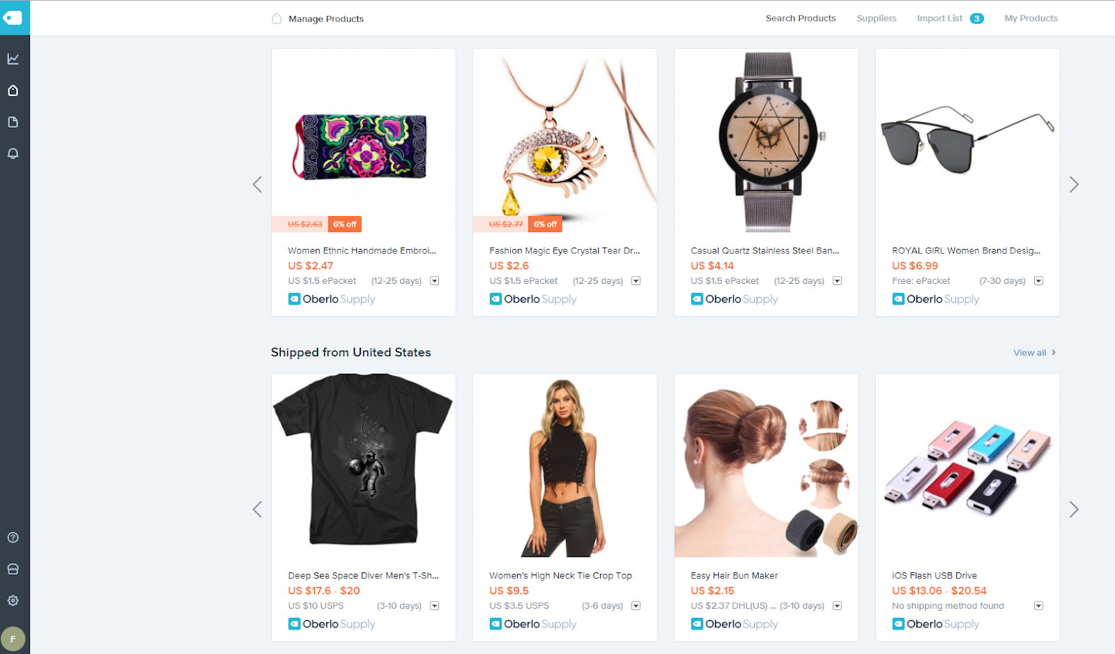 best shopify apps - oberlo
