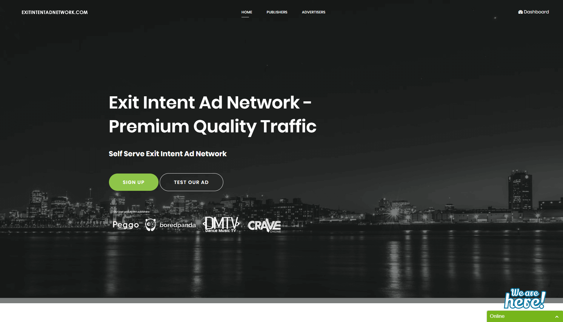 ExitIntentdNetwork Home Page