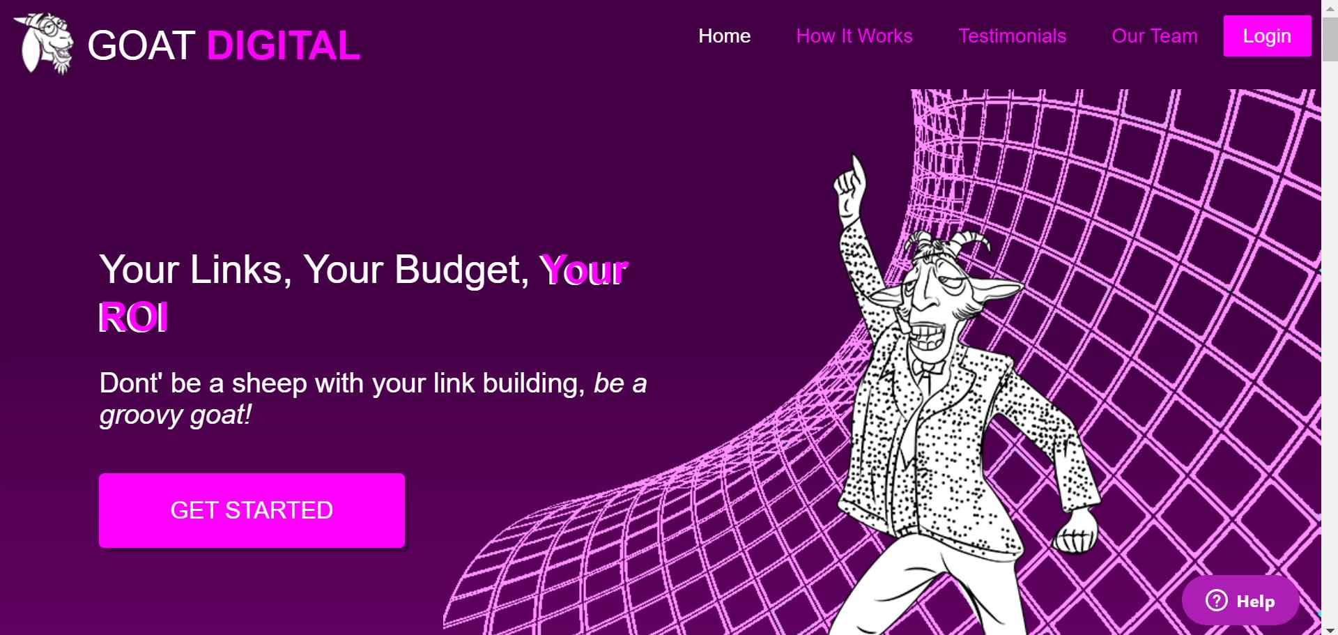 image of website GOAT DIGITAL