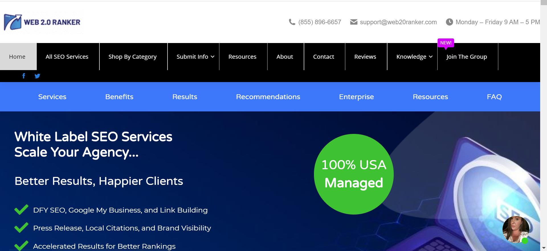 image of website Web 2.0 Ranker