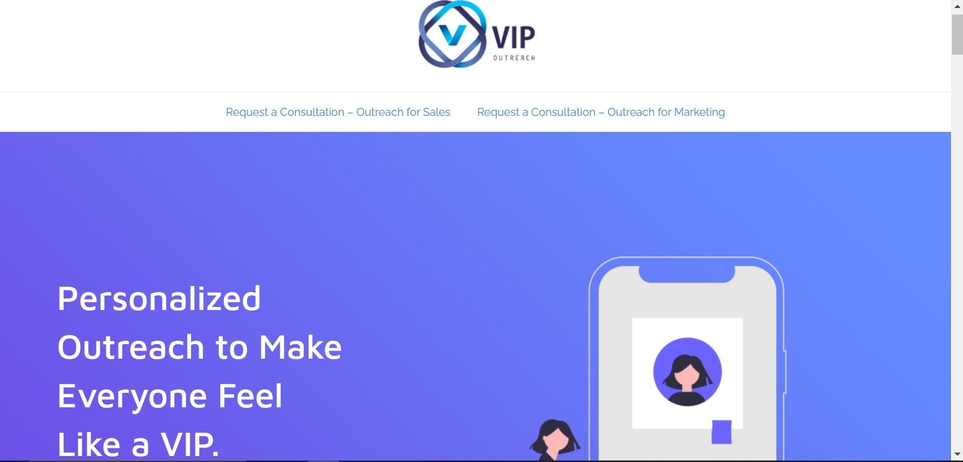 image of website VIP OUTREACH