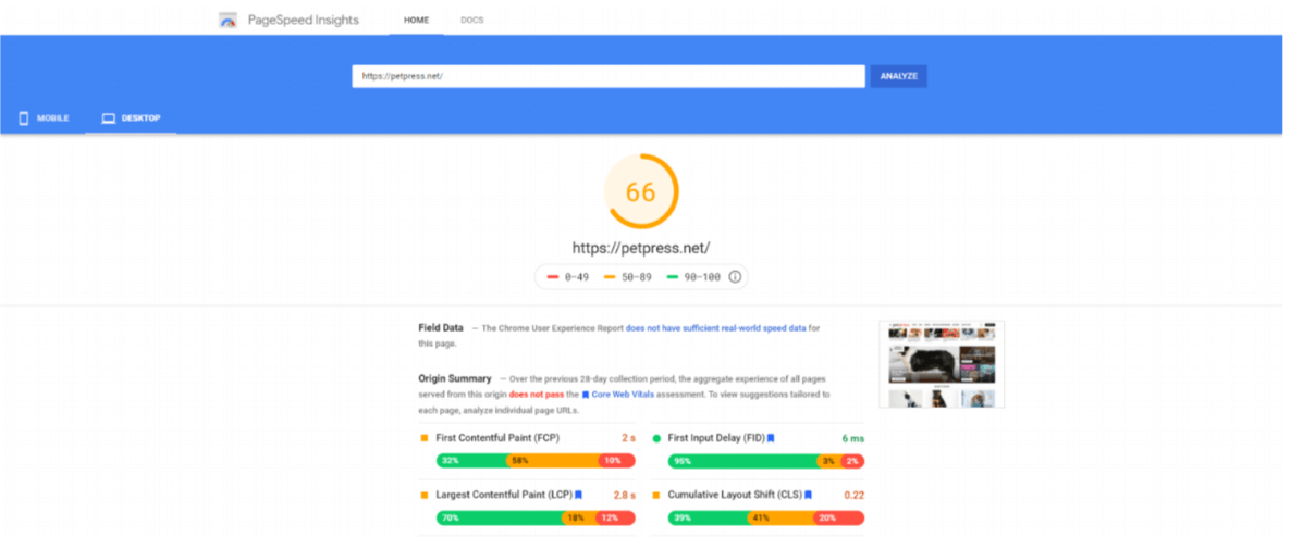 page insights image