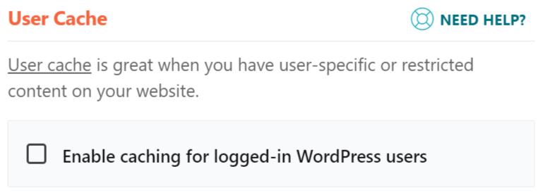 WP Rocket user cache image