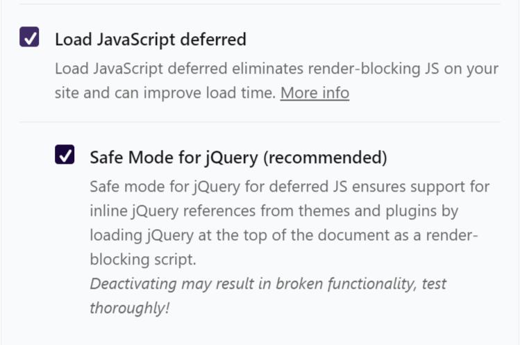 JavaScript deferred image of WP Rocket plugin